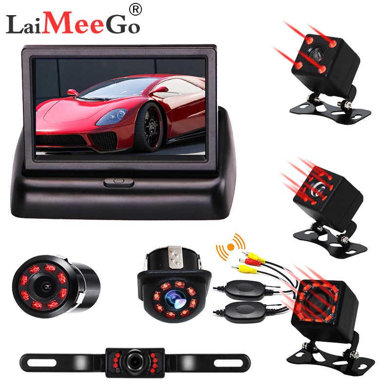 Nirkabel Mobil Monitor 4.3 TFT LCD Rear View Kamera IR Universal Cermin Bantuan Parkir untuk Chevrolet: cruze/Epica/Aveo/Malibu