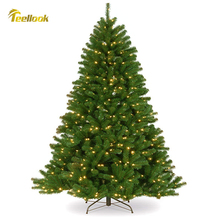 Teellook 1.2m/3.6m new PVC material Christmas tree LED light Christmas Mall hotel decoration