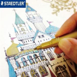 Image 5 - Staedtler 8323 kolory metaliczne marker długopis używać do DIY karty biurowe i szkolne artykuły papiernicze 5 sztuk/partia