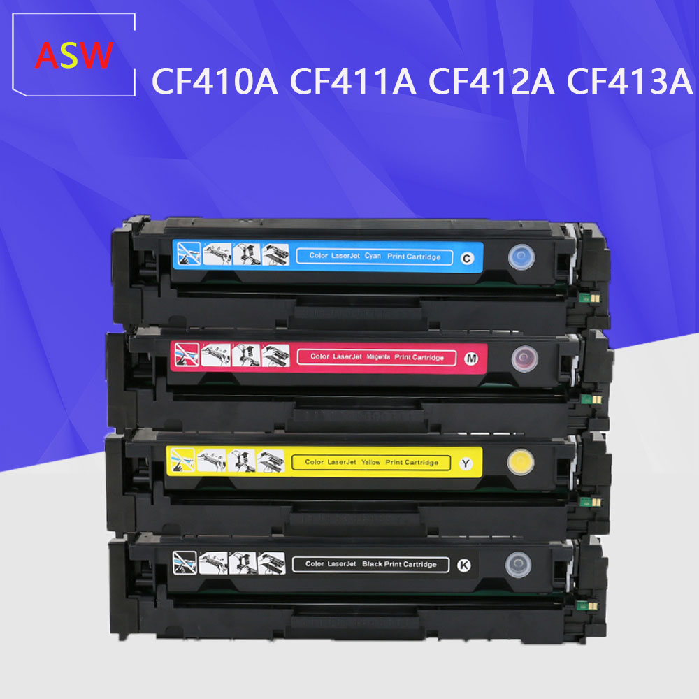 4PK, совместимый с HP Тонер-картридж 410A CF410A CF410 CF411A CF412A CF413A Цвет LaserJet Pro M452dn/M477fdw