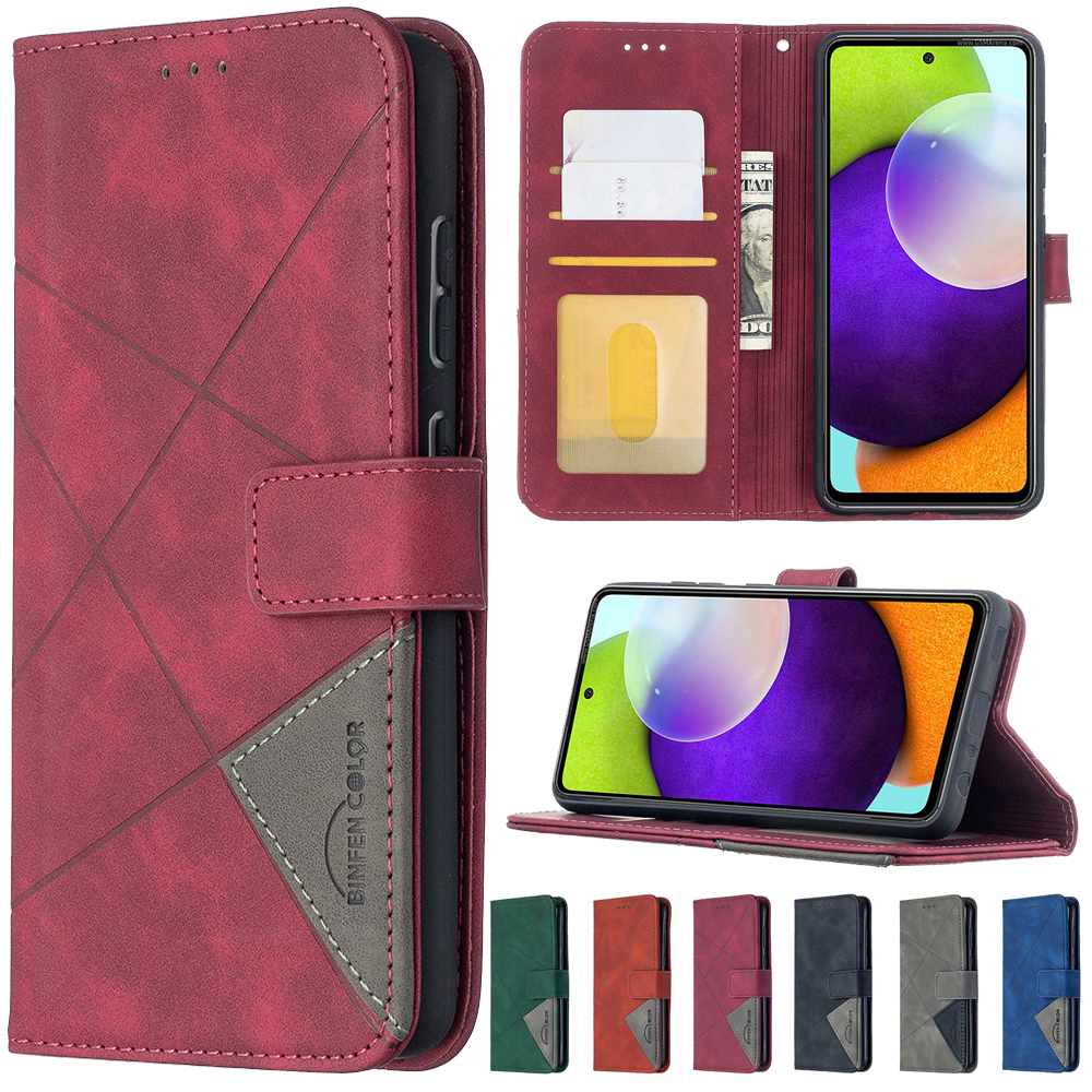 Leather Wallet Phone Case For Samsung Galaxy A01 A02S A03S A10 A11 A12 A20 A21S A22 A30 A32 A40 A41 A50 A51 A52 A70 A71 A72 Case