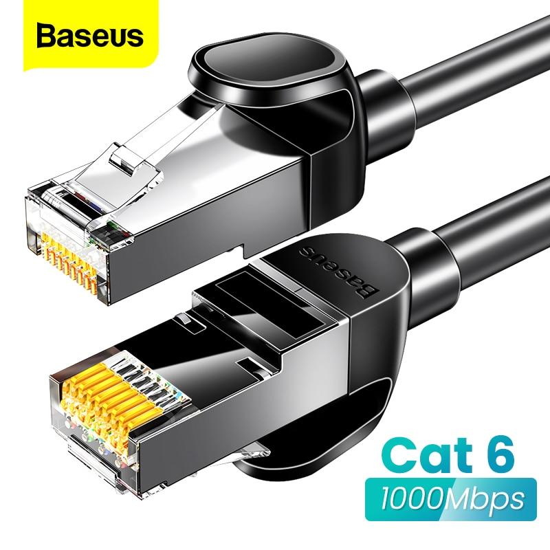 Baseus Round Ethernet Cable Cat 6 Lan Cable CAT6 RJ 45 Network Cable 15m/10m/5m Patch Cord For Laptop Router RJ45 Internet Cable