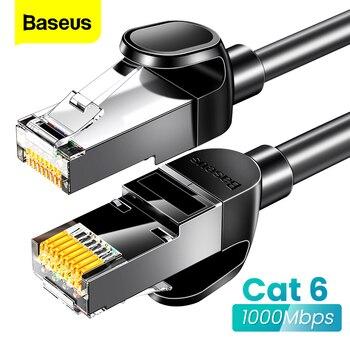 Baseus Round Ethernet Cable Cat 6 Lan Cable CAT6 RJ 45 Network Cable 15m/10m/5m Patch Cord for Laptop Router RJ45 Internet Cable baseus ethernet cable cat 6 lan cable cat6 rj 45 network cable 15m 10m 5m 3m patch cord for laptop router rj45 internet cable