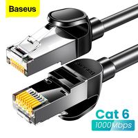 Baseus Runde Ethernet Kabel Katze 6 Lan Kabel CAT6 RJ 45 Netzwerk Kabel 15 m/10 m/5 m Patchkabel für Laptop Router RJ45 Internet Kabel auf