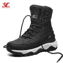 XIANG GUAN Hiking Shoes Women Waterproof Snow Climbing Mountain Tactical Boots W