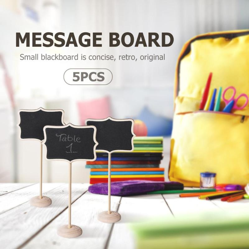15pcs Mini Wooden Wedding Blackboard Creative And Unique Wide Scope Of Application Message Table Number Chalkboard Decor