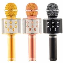 1 sztuk przenośny bezprzewodowy mikrofon Bluetooth głośnik ręczny Karaoke Mic odtwarzacz muzyczny śpiew rejestrator Super bas KTV mikrofon