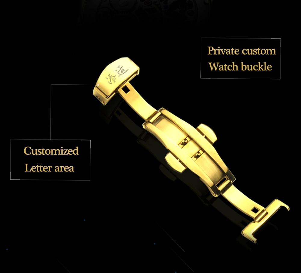Original tourbillon guanqin relógio mecânico masculino topo