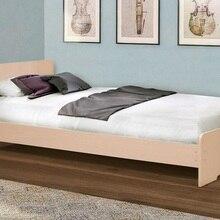 Кровать Матрица №5 одинарная на уголках (Дуб млечный, ЛДСП, Дуб млечный, 700x1900 мм) Матрица