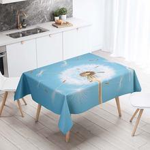 Прямоугольная скатерть Декоративная для стола с 3d принтом одуванчика
