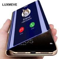 Espejo Smart Flip caso de Huawei P40 P30 P20 Pro amigo 20 10 Honor 20 Pro 10 9 Lite 9X 9A 9S 8A 8X Nova 5T P Smart Z 2019 cubierta