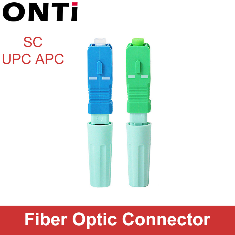 ONTi New SC APC 58mm SM Single-Mode Optical Connector FTTH Tool Cold Connector Tool SC UPC Fiber Optic Fast Connector