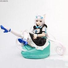 23cm nouveauté Anime figurine Nekopara vanille femme de chambre Ver modèle PVC 1/4 échelle peint décoration tissu dessin animé Sexy poupée