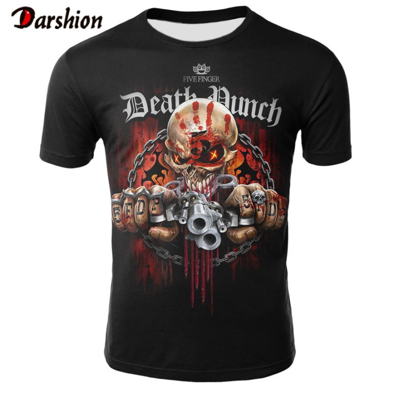 2020 New Skull Men's Casual T-shirt Summer 3D Printed Round Neck Cool Shirt Street Fashion Trend Youth Hip Hop Tops Male T-shirt