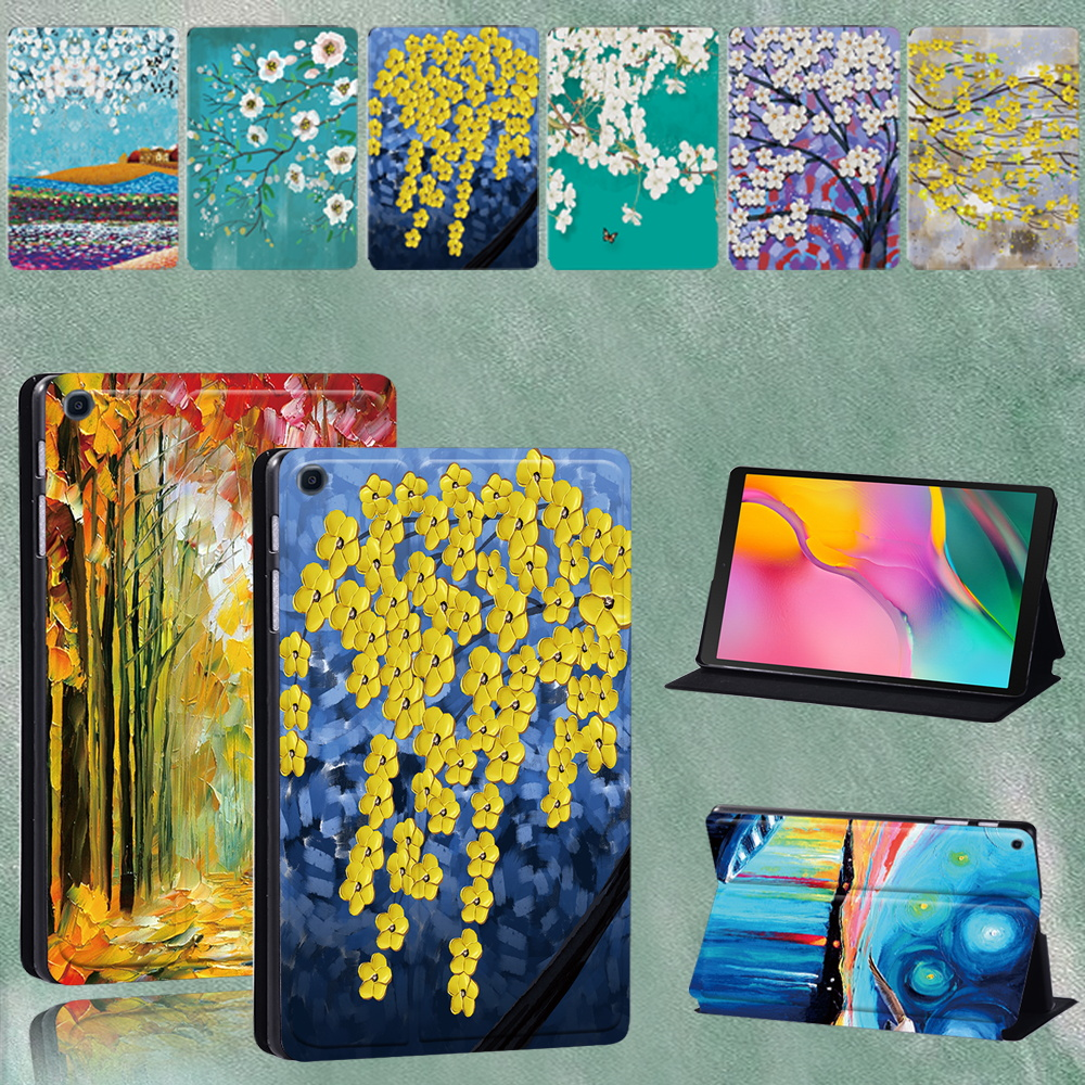 Case for Samsung Galaxy Tab A SM-T290/SM-T295 2019 8.0 Inch PU Leather Shockproof Tablet Cover + Stylus