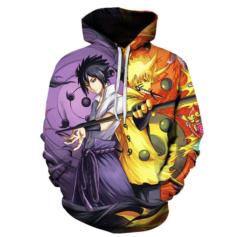2020 Hot Anime Naruto Hoodies Men/women Hoodied Fashion Hip Hop Harajuku New High Quality Naruto Men's Hoodie and Sweatshirt 6XL