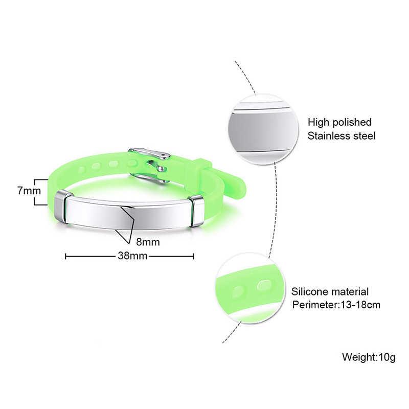 Персонализированные Дети дети ID браслет медицинский оповещение резиновый силиконовый Браслет Регулируемый пользовательское имя ледяное сообщение подарок для маленького мальчика