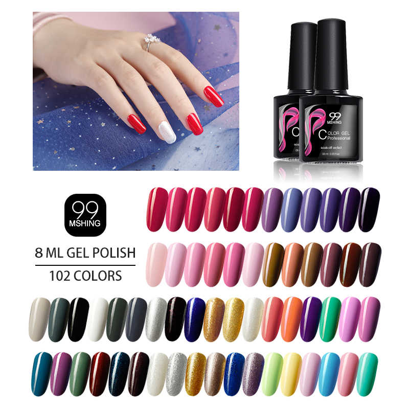 102 couleurs UV gel vernis à ongles semi-permanent UV LED gel vernis à ongles vernis à ongles