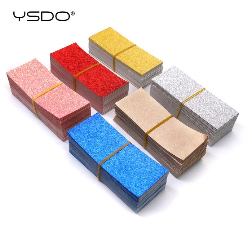 YSDO 50 Pieces Eyelash Box Glitter Bottom Glitter Card Background 7 Colors Flash Cards