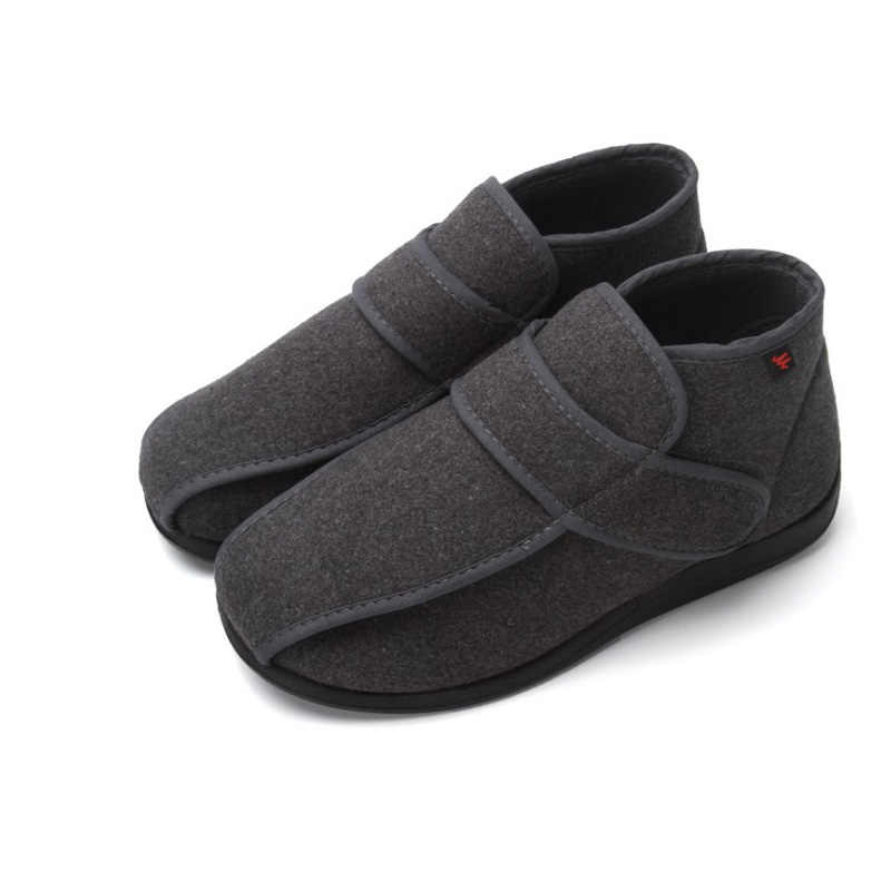 Velcro Design Fashion Warm Diabetes Medical Shoes Diabetic Foot