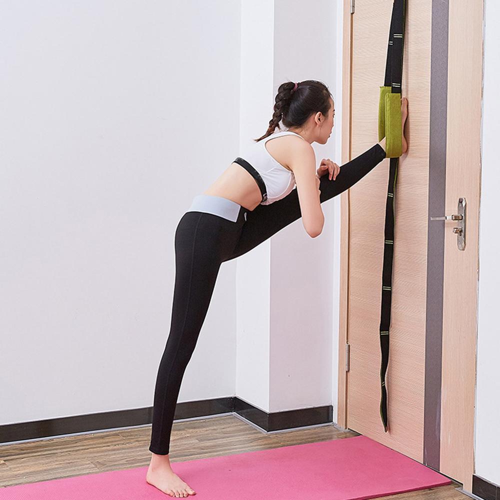 ZANGAO Door Flexibility Stretching Leg Strap For Ballet Cheer Dance Gymnastics Trainer Yoga Accessories Yoga Belt Supplies
