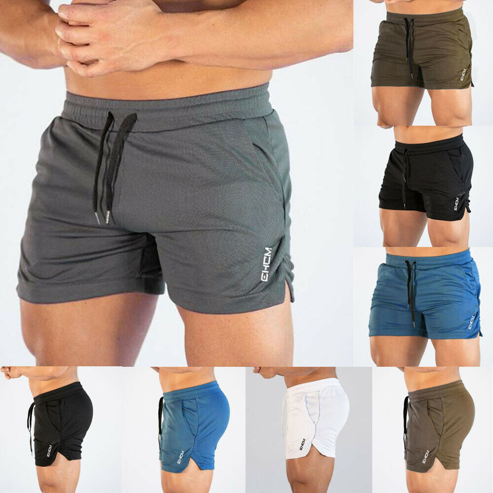 Gym Workout Men Sporting Shorts Breathable Jogging Running Clothes Beach Wear