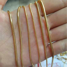 CXQNEWA stainless steel thin Gold plated round snake Chain necklace women 1/1.5/2mm width long Necklace Wholesale jewelry gift classic cross pendant necklace for man women snake chain silver plated jewelry gift dropshipping wholesale