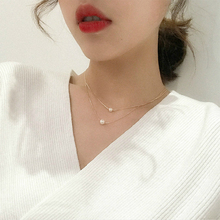 Fishing-Line Invisible Hot-Sale Personality Crystal Imitation-Pearl Women Fashion Torques