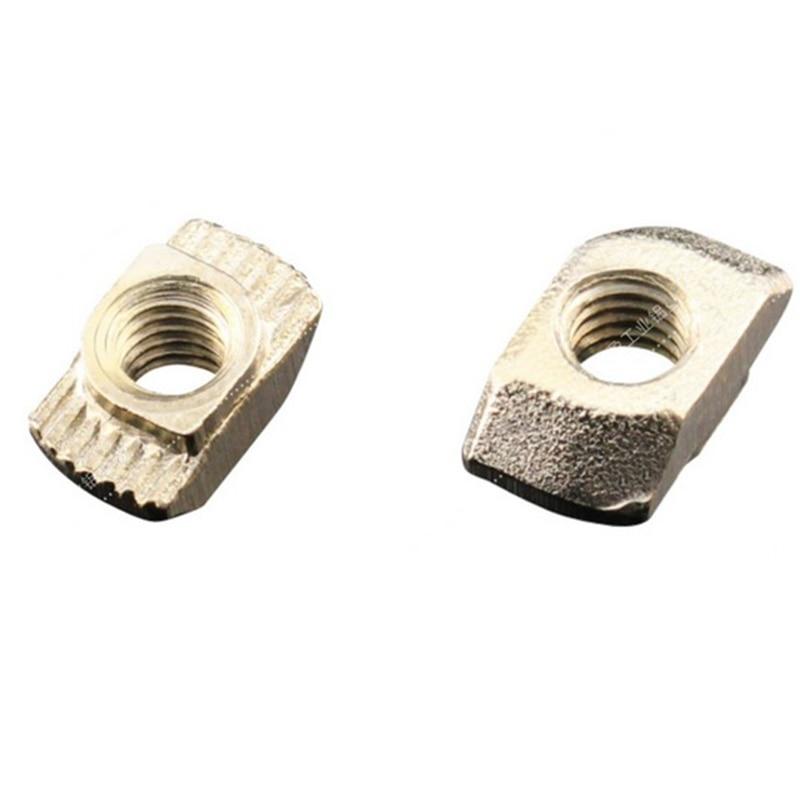 50pcs 20x20 M3/M5 EU Aluminum Profile T-Slot Shape Interior Sliding Nut Block Hammer Nut Fasten Connectors