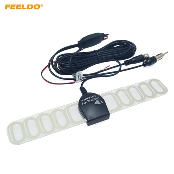 FEELDO Car TV Digital DVB T 2in1 FM Radio Antenna Amp Booster F connector AM897