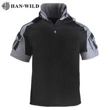T-Shirt de randonnée à manches courtes pour hommes, chemises militaires de Camouflage, chemise tactique d'extérieur, séchage rapide, vêtements d'entraînement de chasse
