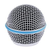 Replacement Blue Steel Mesh Microphone Grill Head Microphone Grille Replacement Head DIY Parts Accessory
