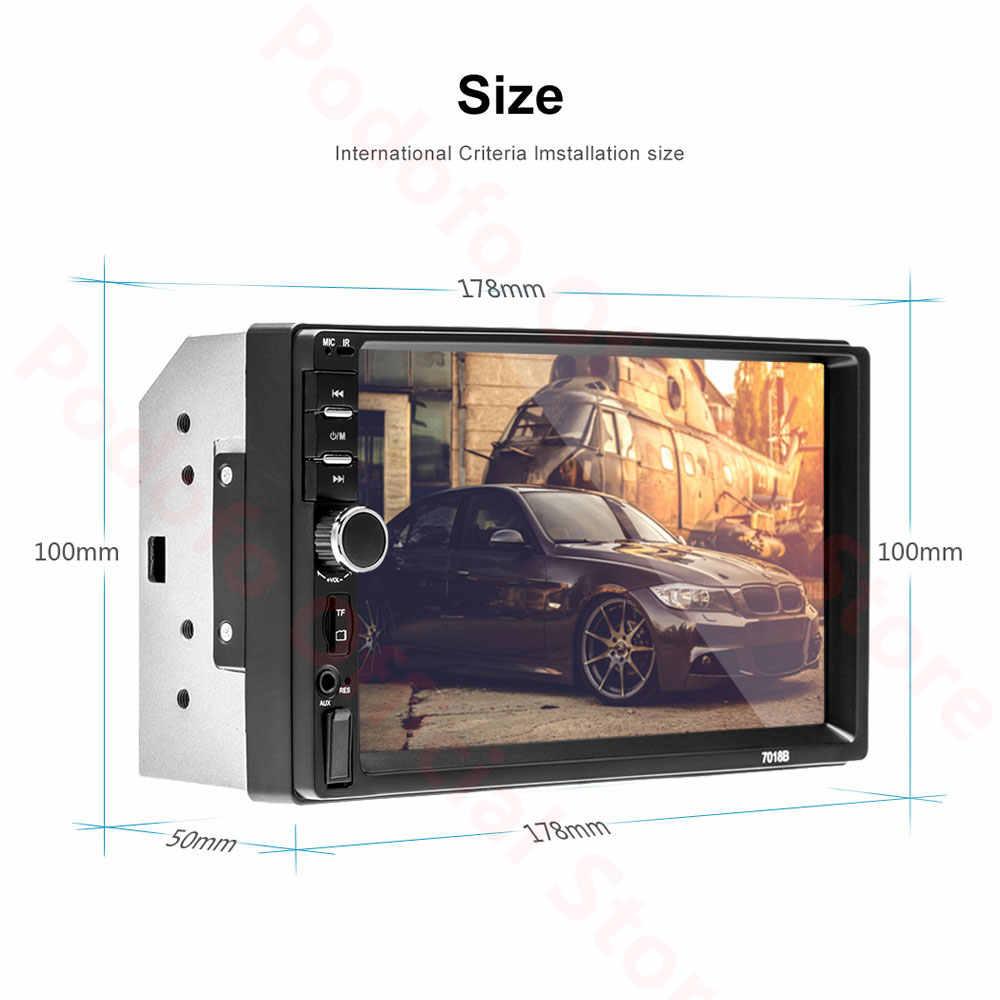 Podofo Android 8.1 2 Din Radio samochodowe RAM 2GB + ROM 32GB Android 7 ''2Din uniwersalne Radio samochodowe Autoradio GPS odtwarzacz multimedialny