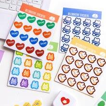 Плоская клейкая бумага для сообщений милая серия 10 мультяшных