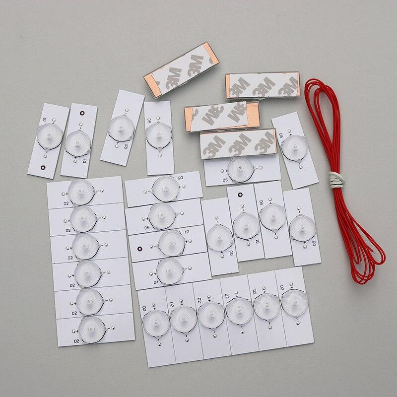 (50pcs 3V)Brand New 3V SMD Lamp Beads With Optical Lens Fliter For 32-65 Inch LED TV Repair