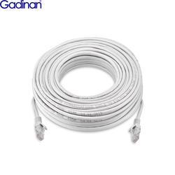 Gadinan CAT5 Cat5e 50 M/30 M/20 M/10 M kabel sieciowy ethernet linia RJ45 Internet LAN przewód dla IP PoE kamera ochrony zestaw do organizacji w Skrzynie biegów i kable od Bezpieczeństwo i ochrona na