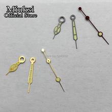 Miuksi серебро/золото часы стрелки зеленый светящийся указатель подходит Miyota 8205/8215/821A/82 серии, Mingzhu DG 2813/3804 движение