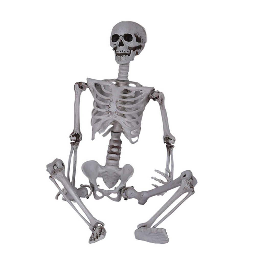 40 Cm Lucu Bergerak Kerangka Model Tengkorak Penuh Tubuh Mini Figure Baru Mainan Halloween Hadiah untuk Anak-anak