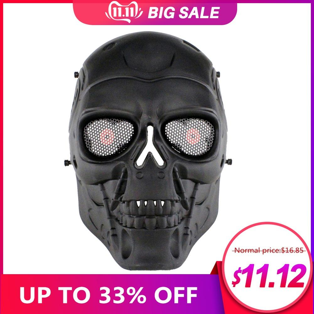 Cool CS Face Mask Ski Bike Riding Motorcycle Outdoor Sports Wear Paintball Airsoft Sports Plastic Tactical Mask