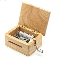 15 ton Hand Musik Box Mit Puncher Holz Box Und 10 Papier Band Musik Sport Box Papier Mit Geschenk Hand schütteln Musik Box Geschenk
