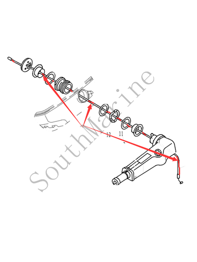 61N-26311-00 Stainless Steel Throttle Cable For Yamaha Outboard Engine 25HP 30HP