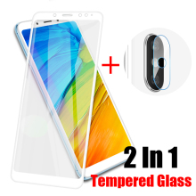 2 In 1 Back Camera Lens Screen Protector Film Full Cover Protective Glass For Xiaomi Redmi Note 5 Front Tempered