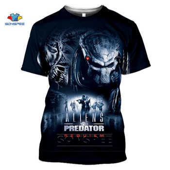 SONSPEE The Predator T Shirt Fashion Men Women Sweatshirt 3D Print Movie Hip Hop streetwear Unisex Tops O Neck Harajuku Pullover - discount item  40% OFF Tops & Tees