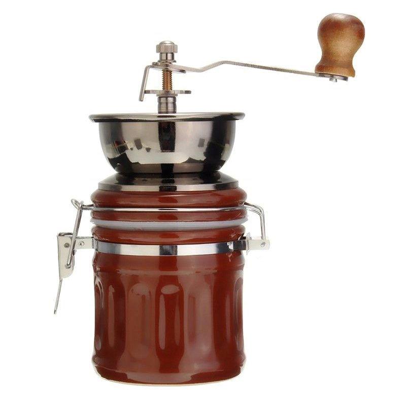 Vintage Stainless Steel Ceramic Hand Coffee Bean Grinder Nut Grinding Hand Grinding Tool