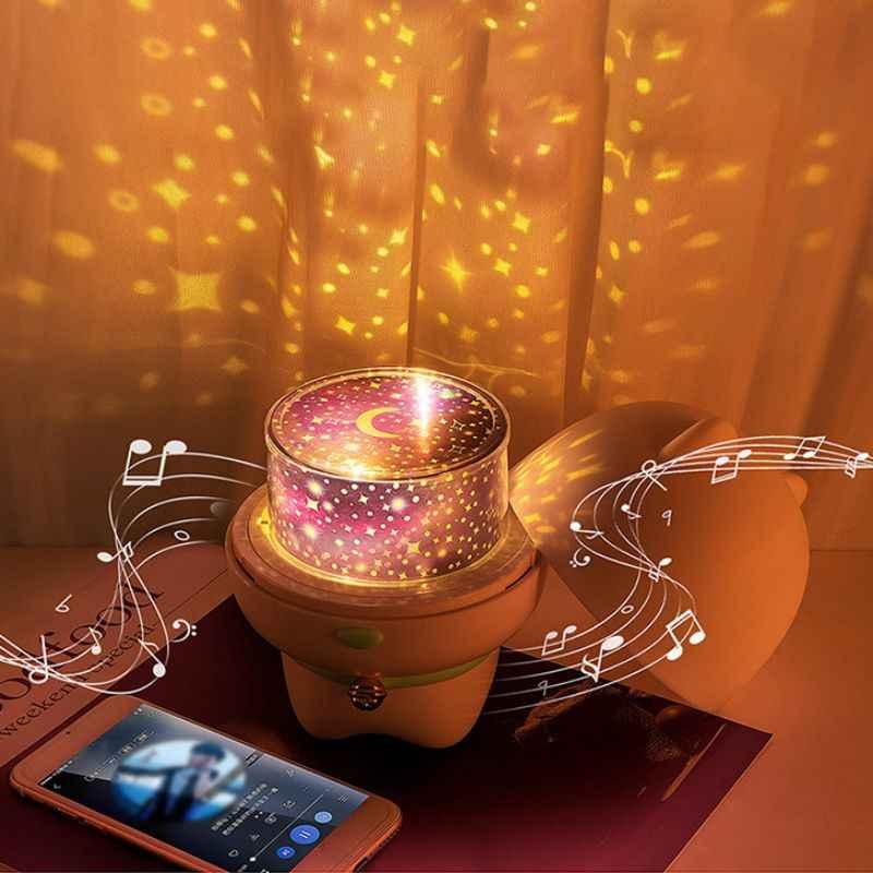 Светодиодный проектор Звездное небо волшебная планета красочный поворот мигающая звезда лампа земля Вселенная светящаяся форма свиньи Bluetooth динамик