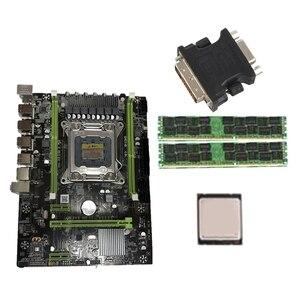 1 шт. адаптер DVI 24 + 5 штекеров Аналоговое гнездо VGA и 1 комплект X79 материнская плата комплект с LGA2011 Combos Xeon E5 2620 CPU