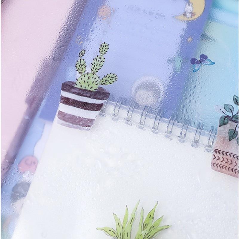 1pcs PVC Waterproof Zip Bag Document File Organizer Storage Folder Office School Supplies