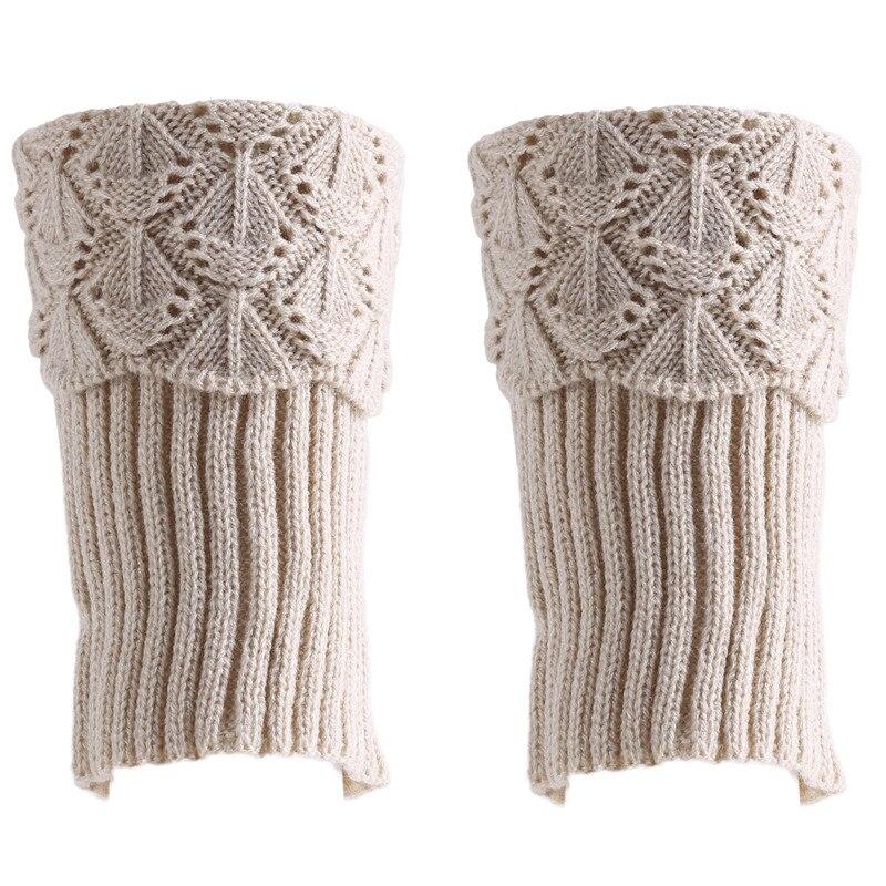 Winter Knitted Warmer Women Thicken Socks Female Korean Version Of The Foot Cover Warm Thin Thighs Flip Sail Scallops Socks
