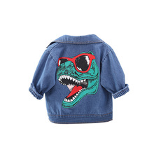 patpat 2020 spring and autumn new baby dinosaur print long sleeves 0 1 years jumpsuit one pieces baby boy clothes Spring and Autumn New Boy Tide Boy Big Dinosaur Printed Jacket Fashion Children's Clothing Baby Boys Clothes Baby Jacket Coat