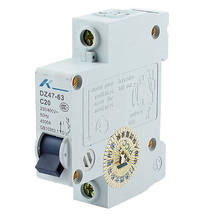 AC 230/400V 20A 1 Pole Overload Protection MCB Mini Circuit Breaker DZ47-63 C20(China)